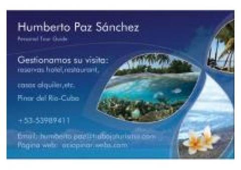 Mi nombre es Humberto Paz y soy guía turístico..