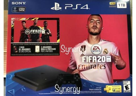 FIFA 20 PLAYSTATION 4 PS4 slim 1tb CON JUEGO FiFA 20 ¡NUEVO! 200usd