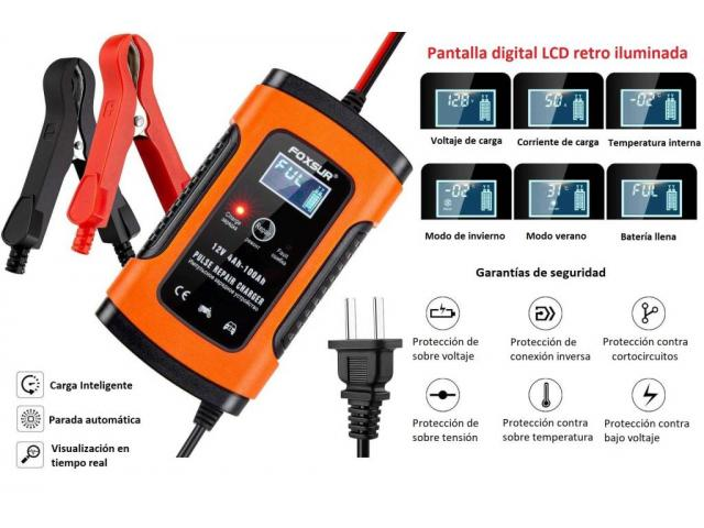 Cargador inteligente para baterías 12v desde 4Ah a 100Ah 60cuc 52541827