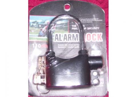 Nuevo candado eléctrico (negro) con alarma,ideal para motos, rejas y puertas,20CUC