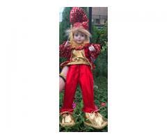 Nuevos duendes navideños, en 25 y 45CUC (con caja de música), manos y cara de porcelana