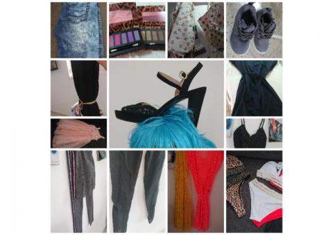 Bikinis, tela cortina zapatos otros tienda cristinita