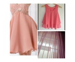 Tela chifon/algodón, 3metros ancho, ideal para cortinas blusas vestidos