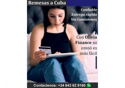 Remesas a Cuba con Olivia Finance